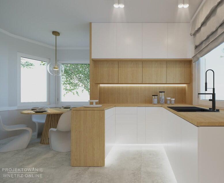 Kuchnia w drewnie i bieli 8