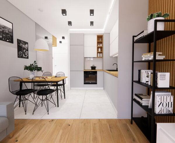 Projekt mieszkania - szarość we wnętrzach 2