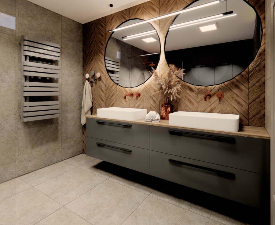 Projekt industrialnej łazienki 1