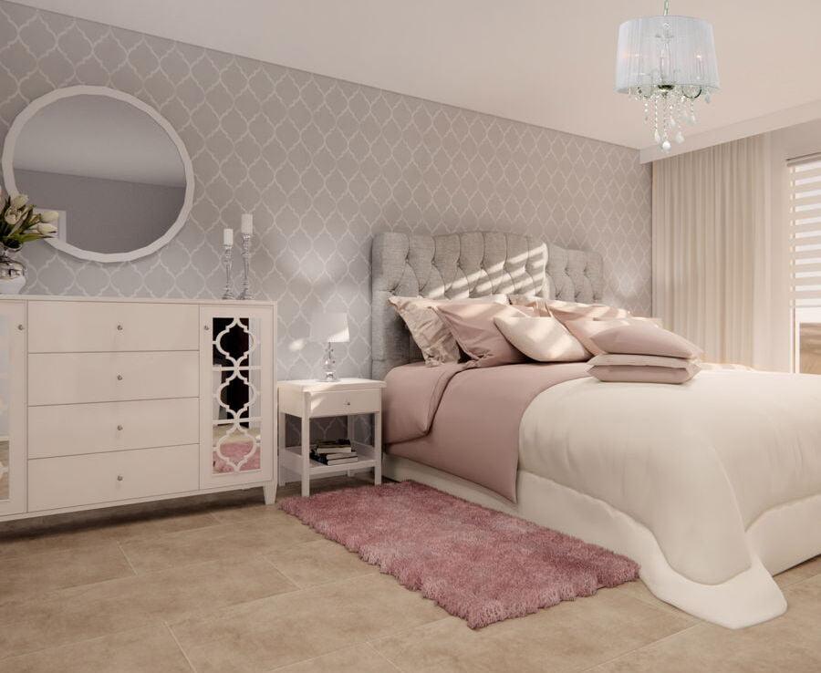 Sypialnia w stylu glamour 2