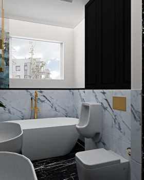 Łazienka w stylu glamour5