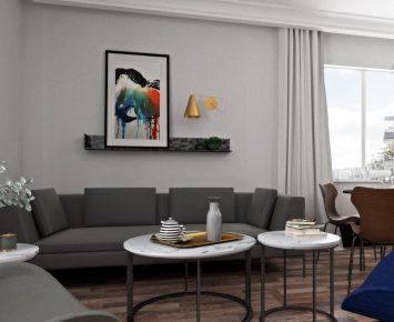 Aranżacja wnętrza mieszkania 3