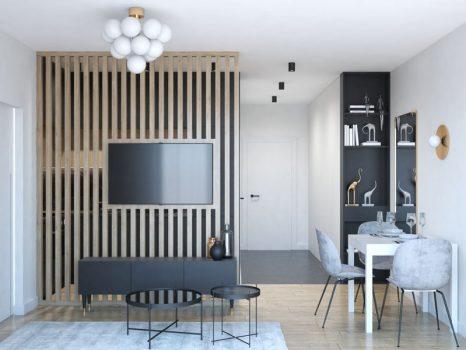 Czarna kuchnia w malym mieszkaniu (1)