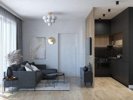 Czarna kuchnia w malym mieszkaniu (5)