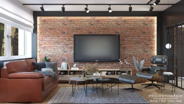 Duży stylowy industrialny salon (3)