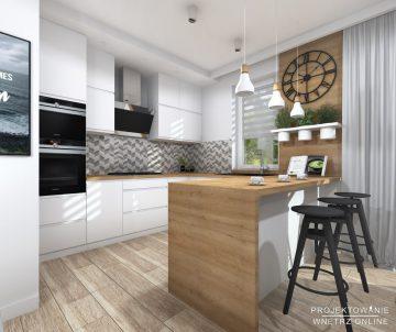 Projekt kuchni w stylu skandynawskim 6