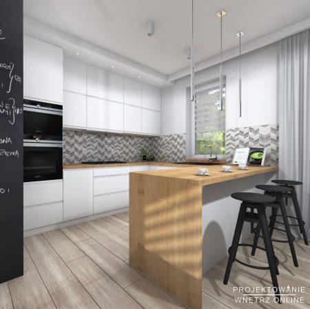 Projekt kuchni w stylu skandynawskim 7