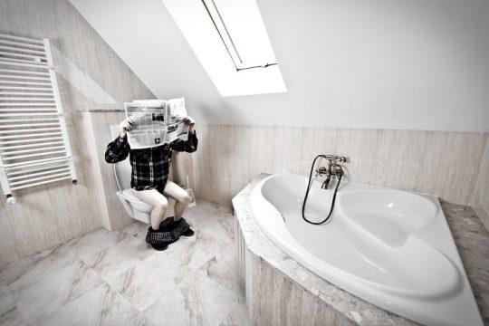 Projektowanie Wnetrz. Niefunkcjonalny układ łazienki