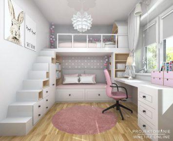 Rozowa-sypialnia-dziewczynki-z-lozkiem-na-antresoli-9