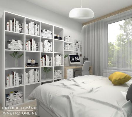 Skandynawska sypialnia w odcieniach turkusu2