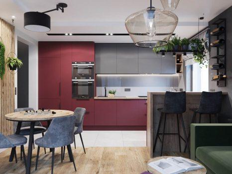 projekt salonu z kuchnią (9)