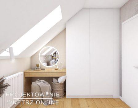 projekt sypialni na poddaszu (5)